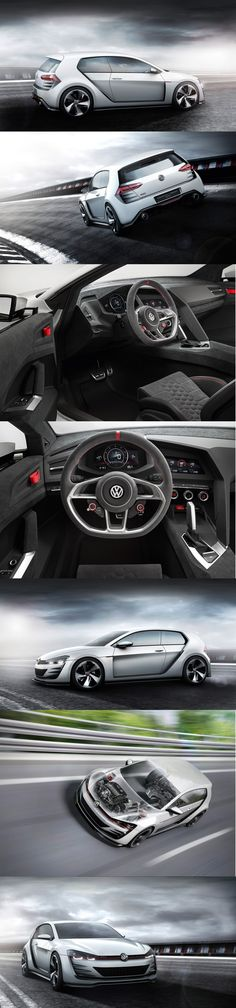 Volkswagen Design Vision GTI racing concept Volkswagen, Baby Car Mirror, Amazing Cars, Motor Car, Concept Cars, Golf, Racing, Trucks, Bike