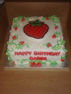 strawberry birthday cake | birthday. She wanted a Strawberry Shortcake cake with a big Strawberry ...