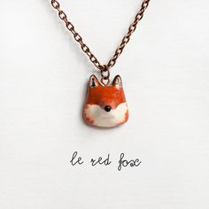 Le red fox necklace $28 http://www.etsy.com/listing/83808430/le-red-fox-petite-necklace