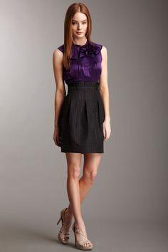 BCBGMAXAZRIA Woven Twofer Dress
