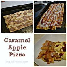 Caramel Apple Pizza for Family Movie Night #StreamTeam #sp
