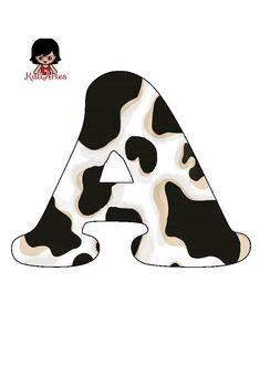 Alfabeto Animal, Animal Alphabet, Monogram Alphabet, Betty Boop, John Deere Bedroom, Candyland, Shop Signage, Cow Decor, Cowgirl Birthday