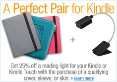Kindle Accessories on sale now at Amazon! #sale #onsalenow  (click image to go to the Kindle Accessories Page)