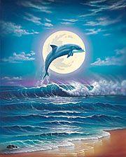 New Dream Dolphin Diy Cross Stitch Diamond Painting Kits Dolphin Painting, Dolphin Art, Wildlife Paintings, Seascape Paintings, Artwork Paintings, Dolphins Tattoo, Water Animals, 5d Diamond Painting, Diamond Art