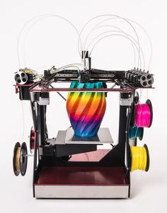The RoVa4D Full Color Blender is the World's first affordable full color 3D printer! It is easy to use and comes ready-to-print.