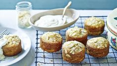 BBC Food - Recipes - Mini apple and almond cakes Mary Berry Cake Recipes Bbc, Apple Cake Recipes, Apple Desserts, Dessert Recipes, Apple Cakes, Fruit Recipes, Drink Recipes, Apple And Almond Cake, Almond Cakes