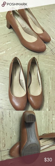 Hush puppies women shoes Only used a few times. Very nice tan color like new hush puppies shoes. Hush Puppies Shoes Heels