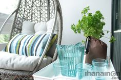 Ihanainen.com Luonnon tuoksuja parvekkeella. #sisustussuunnittelu #tampere