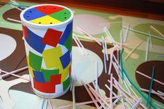 Clever use of a recycled oatmeal container and straws to practice fine motor skills by MerrimentDesign. Pinned by SPD Blogger Network. For more sensory-related pins, see http://pinterest.com/spdbn