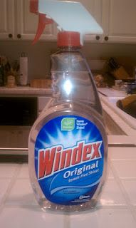 DIY Windex  1 oz  ammonia  4 oz rubbing alcohol  1 drop dish soap  21 oz water (it was a 26 oz windex bottle I was refilling and I filled it up)