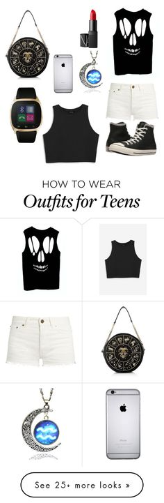 """""""Cool things for teens done by a 5yr old"""" by erin5cutie on Polyvore featuring Yves Saint Laurent, Monki, Converse, NARS Cosmetics and iTouch"""