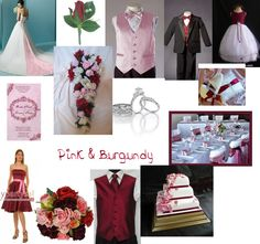 Pink and burgundy wedding colors
