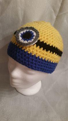 Häkelmützen - Mütze Minion - ein Designerstück von Pale01 bei DaWanda