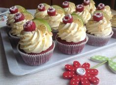Brownie Cupcakes, Cheesecake Cupcakes, Mini Cupcakes, Red Velvet Recept, Cake Recept, Cap Cake, Sweet Bar, Red Velvet Cupcakes, Mini Foods