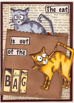 Crazy Cats - Tim Holtz Original design: Memorybound Scrapboking