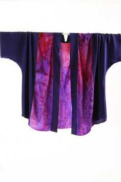 5b94b636f3a9 Plus Size Special Occasion Kimono Jacket Joslin Salt Dyed Silk Crepe Blue  Purple Pink SHOP NOW  Unique jackets for women Sizes 14 - mother of the  bride
