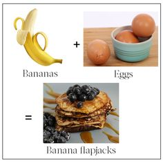2-ingredient recipes banana flapjacks