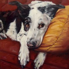 Portraits in Oils.   Cutest dog....I love the expression in the dogs eyes.                                 -Penny-