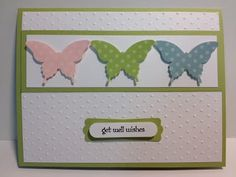 Elegant Butterfly Punch Card  Stampin' Up! Rubber Stamps