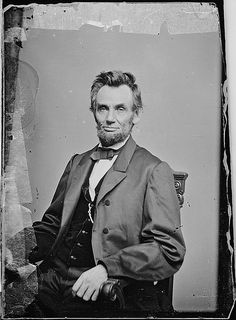 Abraham Lincoln by The U.S. National Archives, via Flickr, taken by Matthew Brady circa 1863