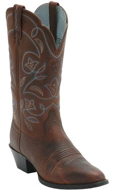 Ariat® Ladies Heritage Brown w/ Blue Stitching Western Boots | Cavender's Boot City