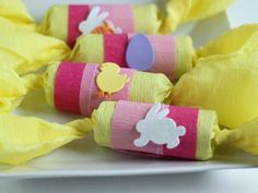 "Pull out an Easter spin on a Christmas craft with these special ""crackers.""  For more wonderful Easter recipes, activities, DIY projects and more, check out http://www.paaseastereggs.com/index.php."