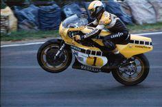 Kenny Roberts taming his Yamaha YZR 500 at the German Motorcycle Grand Prix 1980