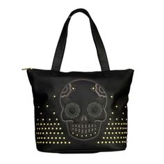 2d4c8b2bea9 Skull With Studs Tote by Loungefly (Black)  InkedShop  skull  studs