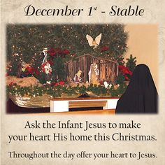 Ask the Infant Jesus to make your heart His home this Christmas.  Throughout the day offer your heart to Jesus.  #DaughtersofMaryPress #DaughtersofMary
