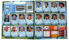 Panini Checkliste WM 2010 Argentinien Sticker eingeklebt