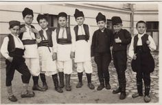 Boys in summer and winter Šumadija costume, c. 1922