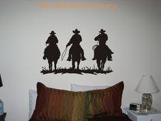Cowboys Horses Western Vinyl Wall Art Decor by TheStickerFactory, $9.99