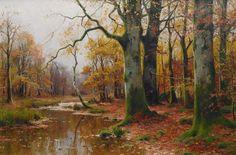 "arcadiainteriorana: "" Creek in an autumnal forest Walter Moras (German, 1856–1925) Oil on canvas, 120 x 80 cm. """