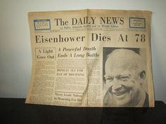 Whittier Daily News newspaper Eisenhower by HEREASTITCHVINTAGE