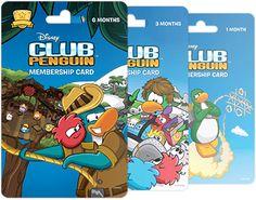 club penguin membership cards