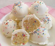 No Bake Cake Batter Truffles! Amazingly delicious!