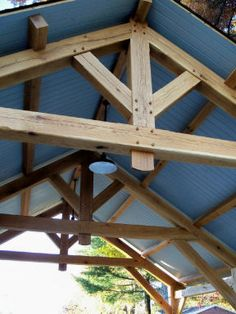 Airy Porte-Cochere Design Homestead Timber Frames Crossville Tennessee