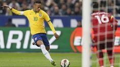 neymar-a-encore-frappe Neymar, Soccer, Football, Running, Sports, Frappe, Image, Tops, Fashion
