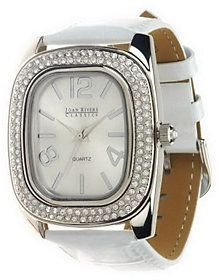 Joan Rivers Classics Collection As Is Joan Rivers All That Shimmers Croco Pattern Strap Watch