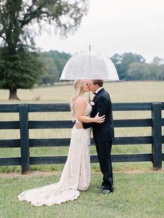 e592281ad0 Rustic rainy wedding day  http   www.stylemepretty.com 2016