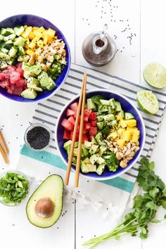 This fresh and pretty poke bowl is the perfect go-to dinner for a busy weeknight.