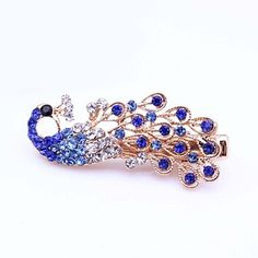 Alloy Barrette with Rhinestone for Women and Girls(More Colors) – USD $ 9.99