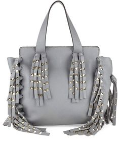 79af42b8072e VALENTINO GARAVANI Women's Tassel Leather Top Handle Tote Bag leather  #purses and #handbags