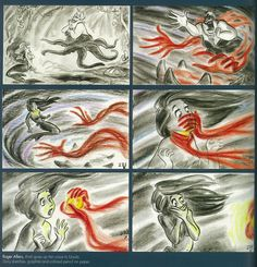 the little mermaid storyboard
