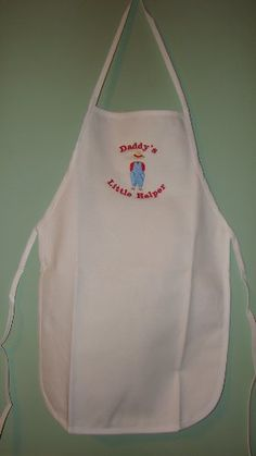 "Gardening aprons - Pin it :-) Follow us :-)) zGardensupply.com is your Garden Supply Gallery ;) CLICK IMAGE TWICE for Pricing and Info :) SEE A LARGER SELECTION of gardening aprons at http://zgardensupply.com/category/garden-supply-categories/gardening-clothing-gear/aprons/ -  garden, gardening, gardening gear, gardening clothes, garden aprons - Boy's White "" Daddy's Little Helper "" Embroidered Child's Apron « zGardenSupply"