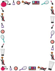 Printable makeup border. Free GIF, JPG, PDF, and PNG downloads at http://pageborders.org/download/makeup-border/