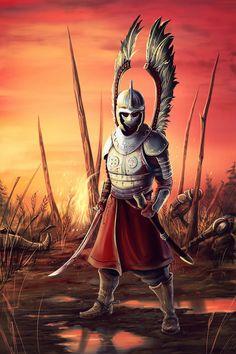 Winged hussar by Venom-svd on DeviantArt Fantasy Character Design, Character Art, Armadura Medieval, Warrior Tattoos, Polish Tattoos, Viking Warrior, Fantasy Warrior, Knights Templar, Medieval Fantasy