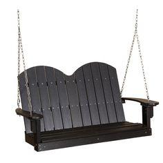 Little Cottage Classic Savannah Patio Porch Swing - LCC-203-BLACK
