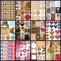 Free Collage Sheets by Art and imagesbykim Use with glass tiles, tray pendants for jewelry, fridge magnets, wood shapes @ecrafty #ecrafty