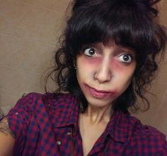 Una zombie ieri sera e una zombie anche oggi :P